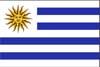 南米ウルグアイ国旗